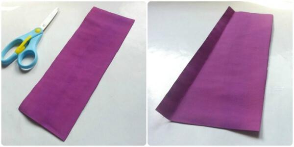Langkah 1 cara membuat bunga dari kertas