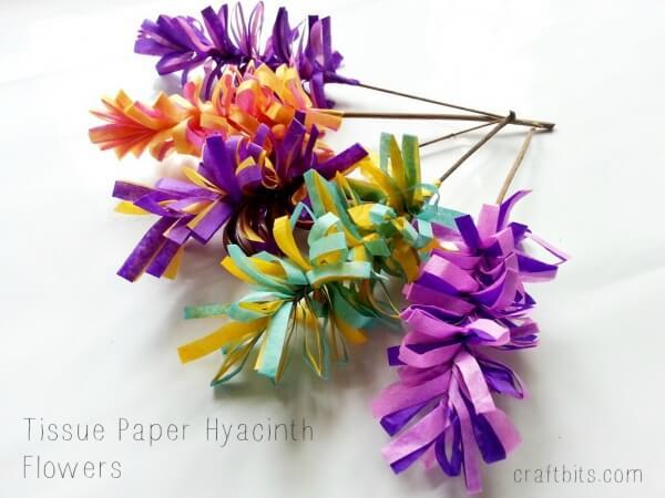 Langkah 11 Cara membuat bunga dari tisu