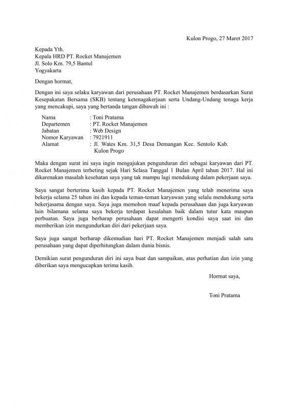 10+ Contoh Surat Resign (Pengunduran Diri) yang Baik