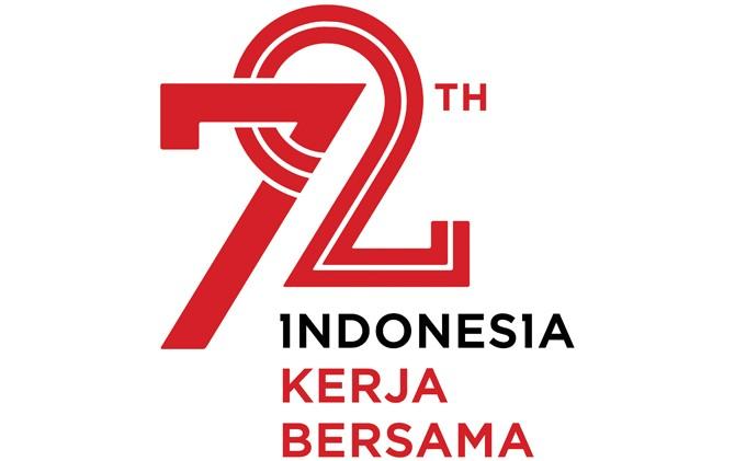 Logo dan tema hari kemerdekaan Indonesia