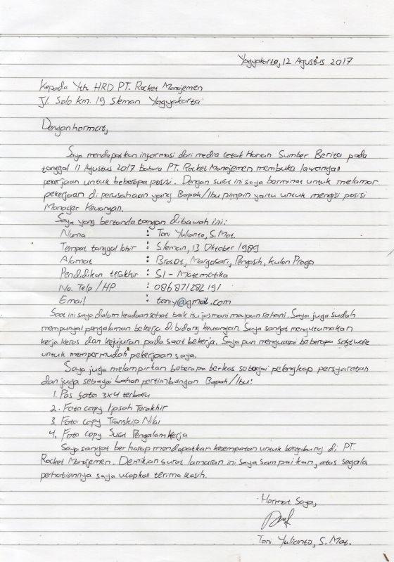 10 Contoh Surat Lamaran Pekerjaan Lengkap Yang Baik Dan Benar
