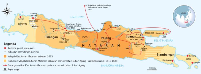 Lokasi Kerajaan Mataram Islam