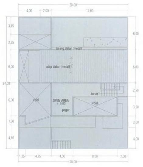 Denah lantai 3