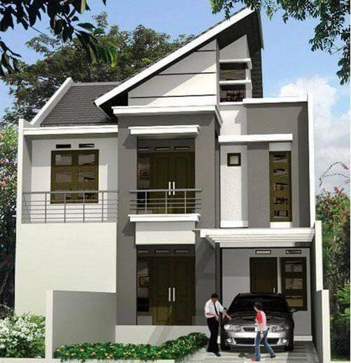 Contoh rumah sederhana berlantai 2