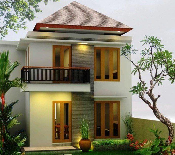 Gambar rumah sederhana berlantai dua