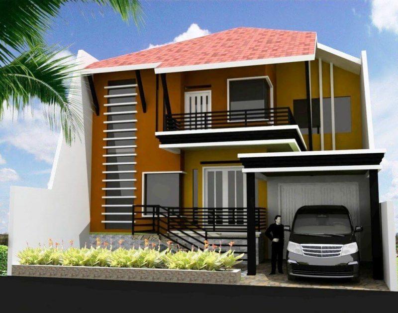 Rumah minimalis lantai 2 tampak depan