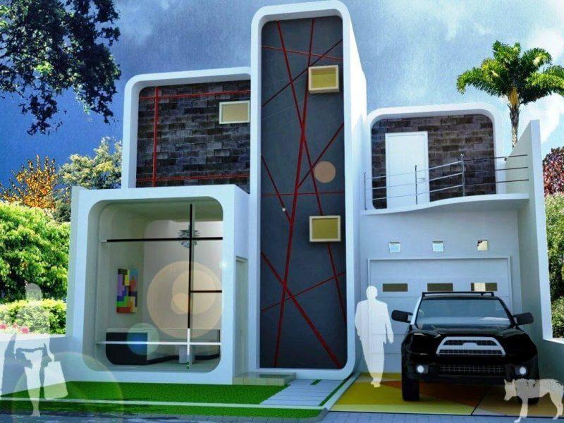 Rumah minimalis modern berlantai 2