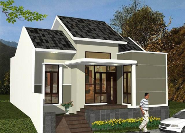 Model Rumah Minimalis Tampak Depan 10