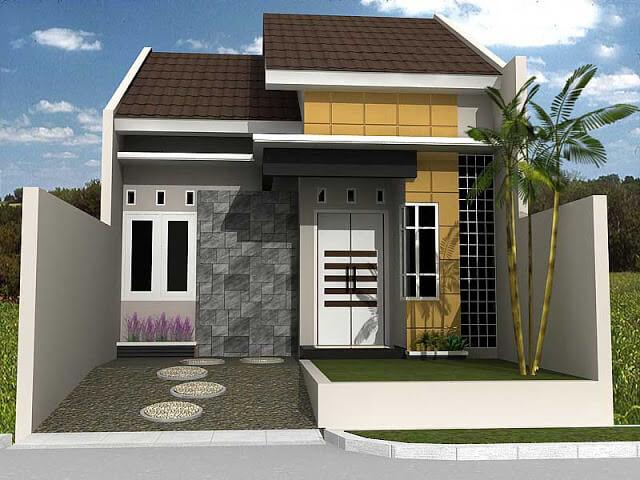 Model Rumah Minimalis Tampak Depan 17