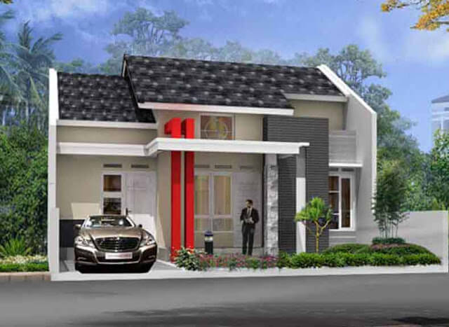 Model Rumah Minimalis Tampak Depan 25