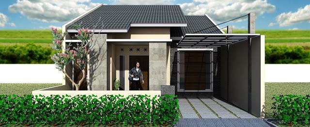 Model Rumah Minimalis Tampak Depan 28