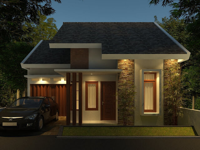 Model Rumah Minimalis Tampak Depan 34