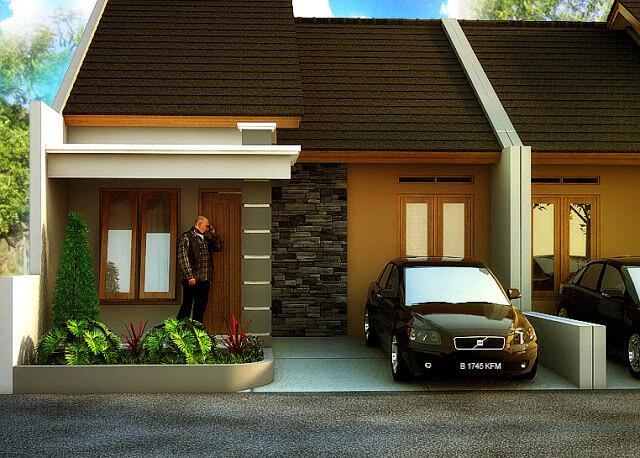 Model Rumah Minimalis Tampak Depan 37