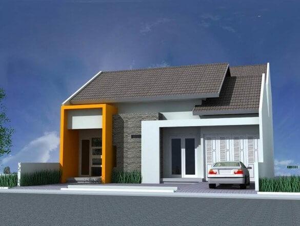 Model Rumah Minimalis Tampak Depan 39