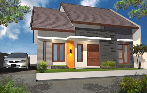 Model Rumah Minimalis Tampak Depan 40