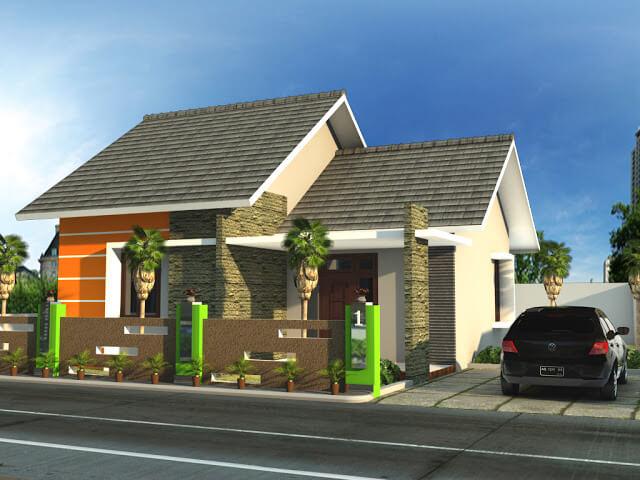 Model Rumah Minimalis Tampak Depan 41