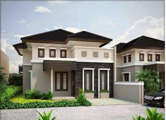 Model Rumah Minimalis Tampak Depan 44