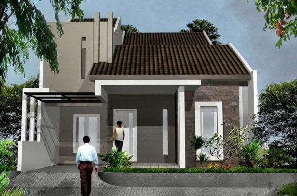 Model Rumah Minimalis Tampak Depan 52