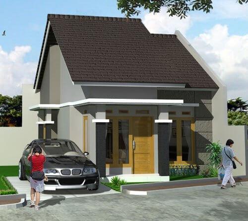 Model Rumah Minimalis Tampak Depan 55
