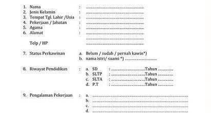 Photo of Contoh Daftar Riwayat Hidup yang Baik dan Benar