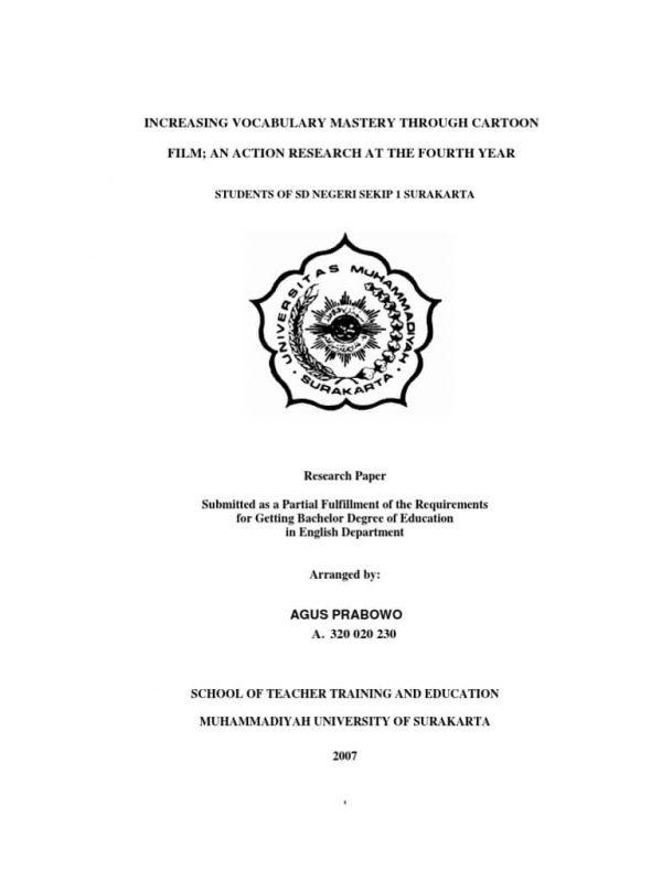 Contoh cover makalah bahasa inggris