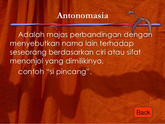 Majas antonomasia