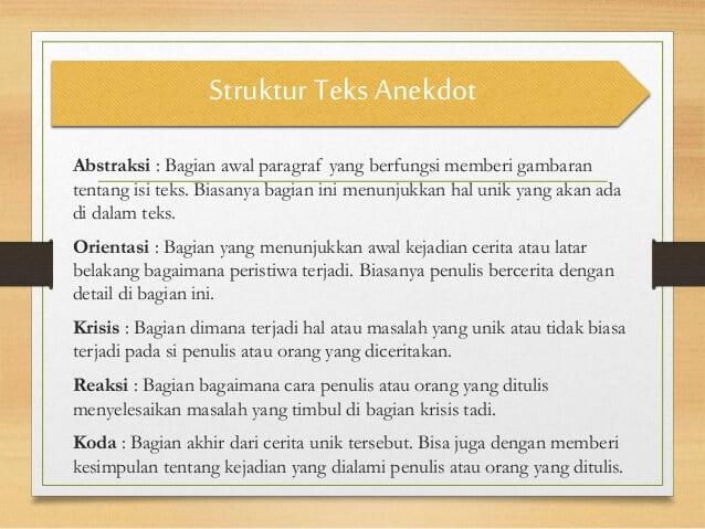 10 Contoh Teks Anekdot Singkat Beserta Strukturnya Lucu Dan Sindiran