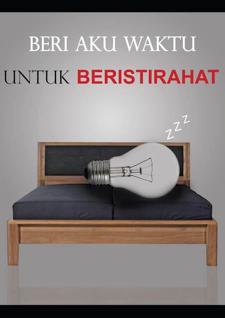 Poster iklan kampanye hemat listrik